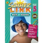Math Plus Reading Workbook, Carson Dellosa Workbook Grades 4-5