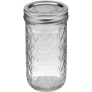 Loew-Cornell  Glass Crystal Jelly Jars with Lids and Bands 12 Oz.