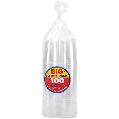 Amscan Plastic Big Party Cups 1056780
