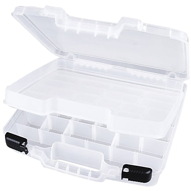 ArtBin 6962AB Quickview Clear Lift-Out Tray with 16 Removable Dividers, 15