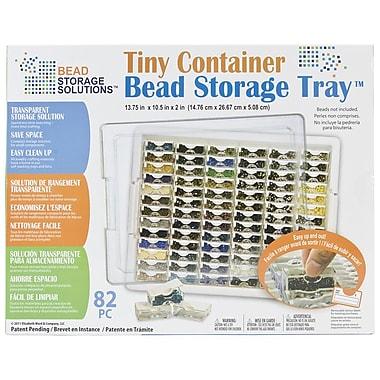 Darice EWC0511 White Tiny Container Bead Storage Tray, 13.75
