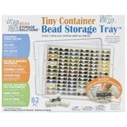 "Darice EWC0511 White Tiny Container Bead Storage Tray, 13.75"" x 10.5"" x 2"""