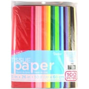 "Darice 2506-126 Assorted Tissue Paper, 26"" x 20"", 100/Pack"