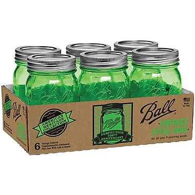 Loew-Cornell Ball Canning Jar 6/Pkg-Pint - Heritage Collection Green 10.39