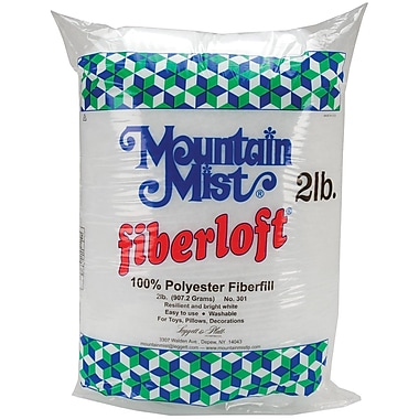 Mountain Mist Fiber 301MM White Polyester Fiberloft Stuffing, 32 oz.
