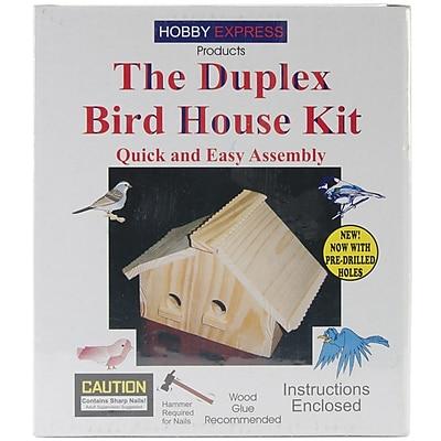 Pinepro Wood Bird House Kit, Unfinished 7.5