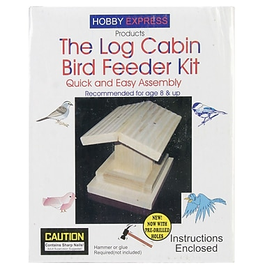 Pinepro Wood Express Log Cabin Bird Feeder Kit