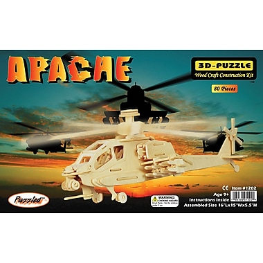 Puzzled Wood Apache 3D Jigsaw Puzzle