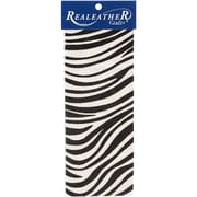 "Realeather Crafts  Leather Exotic Trim Piece Zebra 3.5"" x 9.25"""