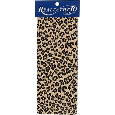 Realeather Crafts Exotic Leather Trim Piece Leopard 3.5