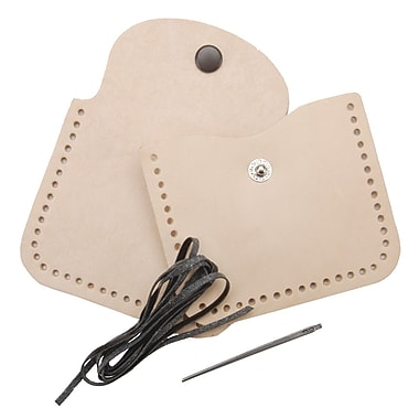 Tandy Leather Factory 4107 Beige Small Change Coin Purse Kit, 3.25