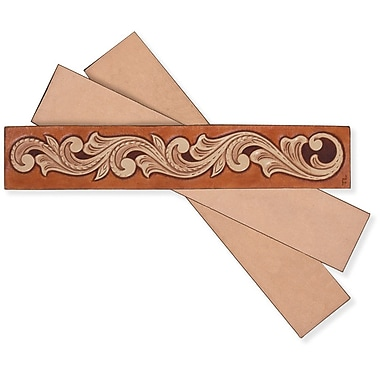 Tandy Leather Factory 4108 Beige Your Place Bookmark Leather Craft Quick Kits, 8