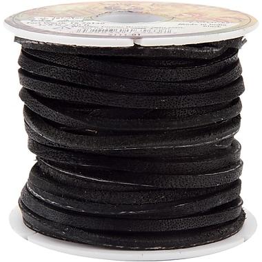 Tandy Leather Factory 5111-01 Black Wide Latigo Lace, 600