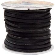 "Tandy Leather Factory 5111-01 Black Wide Latigo Lace, 600"""