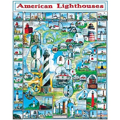 White Mountain Puzzles White Mountain Puzzles American Lighthouses 24