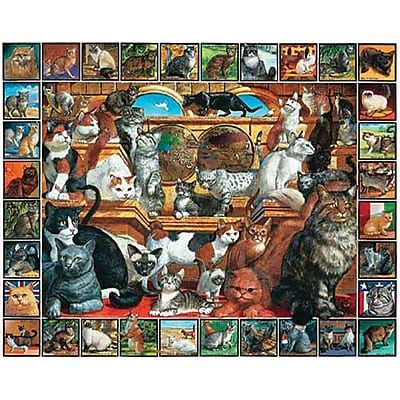 White Mountain Puzzles World of Cats 1000 Piece Jigsaw Puzzle 24