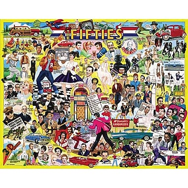White Mountain Puzzles White Mountain Puzzles The Fifties 1000 Piece Jigsaw Puzzle 24
