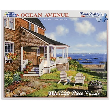 White Mountain Puzzles Chipboard Ocean Avenue Jigsaw Puzzle 24