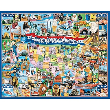 White Mountain Puzzles United States of America - 1000 Piece Jigsaw Puzzle 24