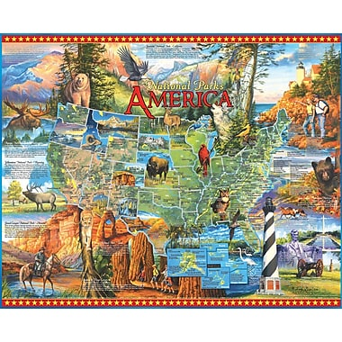White Mountain Puzzles Cardboard National Parks Jigsaw Puzzle 24
