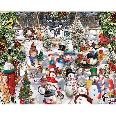 White Mountain Puzzles unchack White Mountain Puzzles Snowmen 1000 Piece Jigsaw Puzzle Unchek