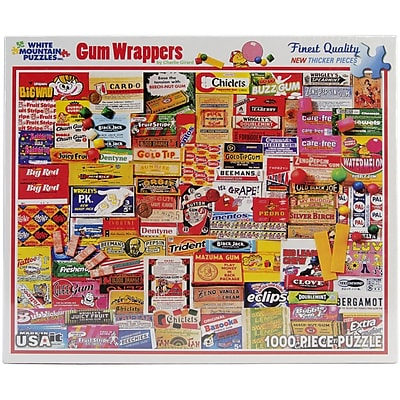 White Mountain Puzzles White Mountain Puzzles Gum Wrappers - 1000 Piece Jigsaw Puzzle 24