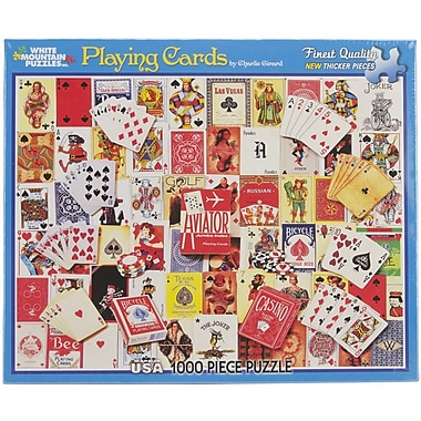 White Mountain Puzzles White Mountain Puzzles Playing Cards - 1000 Piece Jigsaw Puzzle 24