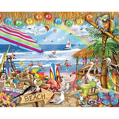 White Mountain Puzzles Cardboard Happy Hour Jigsaw Puzzle 24
