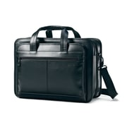 Samsonite Black Leather Expandable Briefcase (43118 1041) by