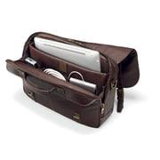 "Samsonite Brown Leather Flapover Laptop Briefcase 15.6"" (45798-1139)"