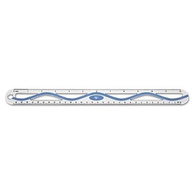 Westcott® Standard/Metric Aluminum Wave Ruler, 12