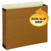"""Smead® Letter Easy Grip® Full-Height File Pocket With 3 1/2"""" Expansion, Redrope, 25/Box"""