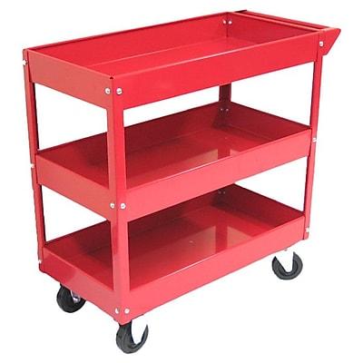Excel Metal Utility Cart; Red