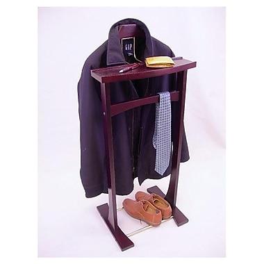 Proman Ashton Wardrobe Valet Stand; Dark Mahogany