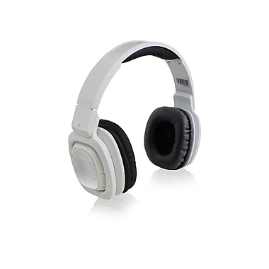 Adesso Xtream H3W Foldable and Rotatable Pivot Bluetooth 3.0 DJ Headphones, White