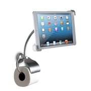 CTA Digital – Support mural de toilette pour iPad et tablettes, avec porte-rouleau