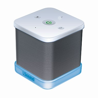 DreamGEAR iGlowSound Cube Wireless Speaker with Built-In Speakerphone, White
