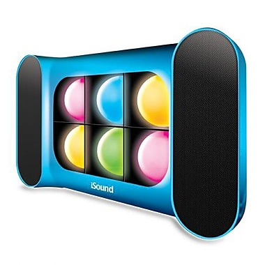 DreamGEAR iGlowSound Pro Bluetooth Speaker/Speakerphone with Dancing Lights, Blue
