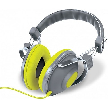 DreamGEAR HM-260 Stereo Headphones with Microphone, Grey/Gold