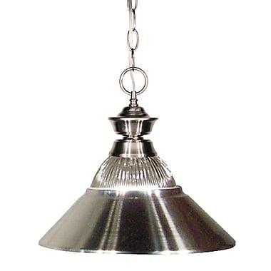 Z-Lite (100701NB-RBN) - Suspension à une lumière, 14 po x 10 po, nickel brossé