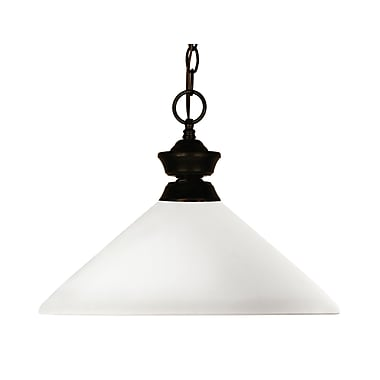 Z-Lite Chance/Aztec (100701BRZ-AMO14) 1 Light Pendant, 14