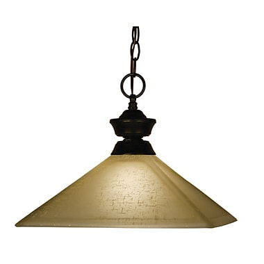 Z-Lite (100701BRZ-MGL13) 1 Light Pendant, 13