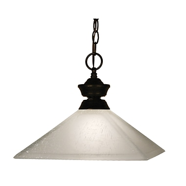 Z-Lite (100701BRZ-MWL13) 1 Light Pendant, 13