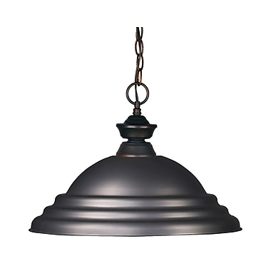 Z-Lite Riviera (100701OB-SOB) 1 Light Pendant Light, 16