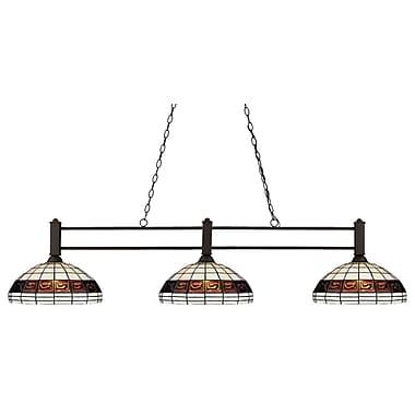 Z-Lite – Luminaire de billard Challenger (127-3BRZ-F14-1) à 3 lampes, 53 po x 14 po x 14 po, bronze
