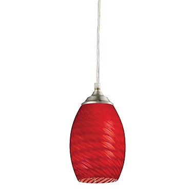 Z-Lite Jazz (131R-BN) 1 Light Mini Pendant, 5