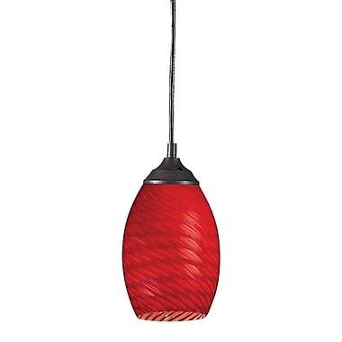 Z-Lite - Mini lampe suspendue Jazz (131-RED) à 1 ampoule, 5 po x 8 po, rouge