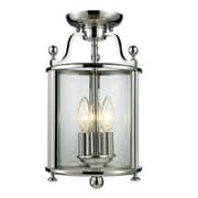 Z-Lite Wyndham - (134SF) Lampe semi-encastrée à trois lumières, 8,5 po x 14,25 po