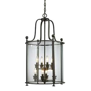 Z-Lite Wyndham (135-8) ­ Suspension à huit lumières, 18 po x 31,5 po bronze