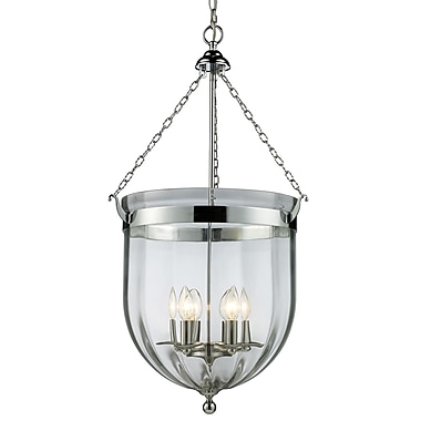 Z-Lite Warwick (137-34) ­ Suspension à six lumières 17,75 po x 34,5 po, chrome